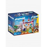 Playmobil THE MOVIE Marla no Palácio Conto de Fadas, da PLAYMOBIL rosa medio liso com motivo