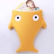 Cute SHARK Estilo Ropa Bolsa De Dormir De Bebe 0 - 6 Meses Baby, Tamaño: 85yard (Amarillo)