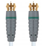 Bandridge Antennekabel F-Male - F-Male 1.00 m Wit