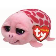 Jucarie Plus 10 cm Teeny Tys Shuffler pink turtle TY