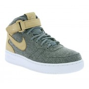 Nike Women's Air Force 1 Mid Lthr Prm Oatmeal/Oatmeal/Oatmeal/Black Basketball Shoe 6 Women US