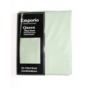 Emporio Queen Fitted Sheet - Slate QUEEN