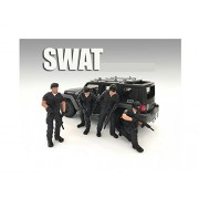 American Diorama Swat Team 4 Piece Figure Set For 1:18 Scale Models By