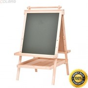 COLIBROX--All In One Kid's Wooden Art Easel Double Side w/Paper Roll&Accessories Tray New. hape ultimate art easel. melissa & doug deluxe standing easel. kidkraft deluxe wood easel.