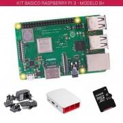 tiendatec RASPBERRY PI 3 - MODELO B+ - KIT BASICO (64GB BLANCO)