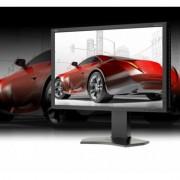 NEC Monitor 24 LCD P242W IPS TFT, W-LED, DVI-D HDMI czarny