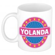 Bellatio Decorations Voornaam Yolanda koffie/thee mok of beker