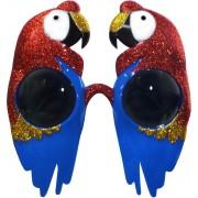 PARTYPRO - Papegaai zonnebril met glitters voor volwassenen - Accessoires > Brillen