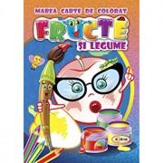 Marea carte de colorat - Fructe Si Legume/***
