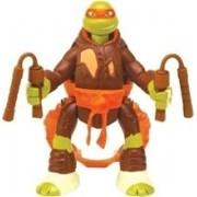 Figurina Nickelodeon Teenage Mutant Ninja Turtles Throw N Battle Michelangelo Figure With Motion
