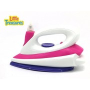 Little Treasures pretend play clothing iron set for preschoolers; pour water into iron and press button to sprinkle...