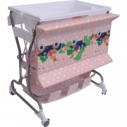 HOMCOM Baby Bath/Changing Table W/ Tub-Pink