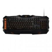 Клавиатура Canyon FOBOS CND-SKB3, гейминг, мултимедийни и бързи бутони, подсветка, USB, черна