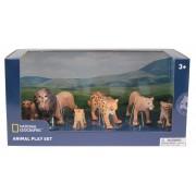 Set 6 figurine Lei si Leoparzi National Geographic, 3 ani+