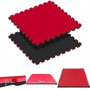 Tatami Puzzle Reversível Kinefis Cor Negra - Vermelho (grossura 20 mm)