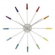 NeXtime Plug Inn Colours Väggklocka 59 cm Multi