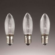 E10 3 W 8 V spare candle bulbs in a set of 3