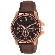true choice 101 TC 11 Brown Round Dial Brown Leather Strap Quartz Watch For Men