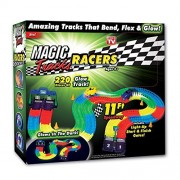 Magic Tracks As Seen on TV 220 Pieces Bend Flex Roll Glow in the Dark Racers Track and Cars Set