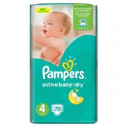 Scutece Pampers 4 Active Baby 7-14kg (70)buc