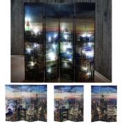 LED-Paravent Spanische Wand Raumteiler New York, Timer, netzbetrieben 180x160cm, 28 LEDs ~ Variantenangebot