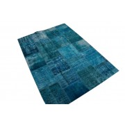 Rozenkelim Patchwork vloerkleed, blauw, 240cm x 170cm