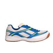 Nivia Super Court Badminton Shoes white/blue