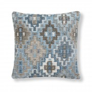 Kave Home Capa de almofada Nazca 45x45 cm, azul