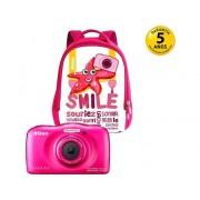 Nikon Cámara Compacta NIKON Coolpix W100 (Rosa - 13.2 MP - ISO: 125 a 1600 - Zoom Óptico: 3x)