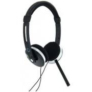 Casti 4World 08254, Stereo, cu microfon, 2.2m (Negre/Argintii)