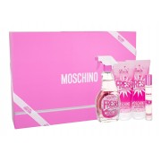 Moschino Fresh Couture Pink 100Ml Edt 100 Ml + Body Lotion 100 Ml + Shower Gel 100 Ml + Edt 10 Ml Per Donna (Eau De Toilette)