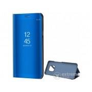 Husa piele artificiala standing Gigapack Mirror View Cover pentru Huawei Mate 20 Pro, albastru