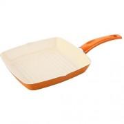 Tigaie grill 24 x 24 cm, aluminiu cu acoperire ceramica, Ivona, Portocaliu