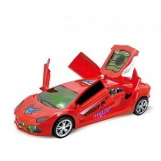 SHRIBOSSJI DREAM SUPER CAR TOY WITH 360 ROTATION 3D PROJECTION LIGHT AND WITH AUTOMATIC OPEN CLOSE DOOR MECHANISM