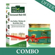 Indus Valley Bio Organic Growout Shmapoo With Hair Reborn Aloe Vera Gel For Hair Regrowth Combo Pack