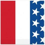 Merkloos 16x Amerika/Verenigde Staten landen thema servetten 25 x 25 cm