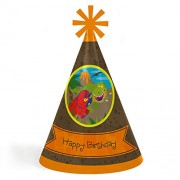 Big Dot Of Happiness Dinosaur Birthday - Cone Happy Party Hats For Kids And Adults Set 8 (Standard Size)