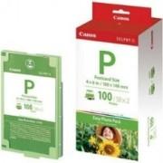 Papel foto canon selphy e-p100 10x15 + tinta 100 hojas serie es