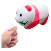Simulación Panda Forma Squishy Lento Aumento De Toy Lento Repunte PU Mitigador De La Tension Squeeze Toy (rosa)