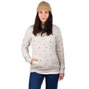 Kazane Daven Sweater : lt heather grey + print - Size: Small