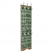 vidaXL Nástenný vešiak na kabáty so 6 háčikmi 120x40 cm HAPPY LOVE