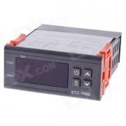"""Controlador de temperatura de microordenador LCD STC-1000 1.7 """"con sensor - negro (220V)"""