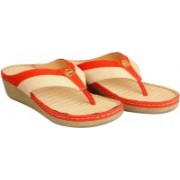 Dr. Scholls Women Cream Orange Sandals