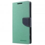 Capa tipo Carteira Mercury Goospery Fancy Diary para Sony Xperia Z5 Premium - Ciano