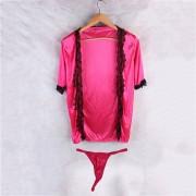 EH Navidad La Ropa Interior Atractiva Atractiva Del Cordón Transparente-Rosa Roja