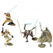 Star Wars Unleashed Battle 4 Pack Obi-Wan Clone Commander Cody General Grievous and IG-100 Series Bodyguard