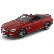 2012 Mercedes-Benz SL 63 AMG Convertible 1/24 Red - Maisto Diecast Models