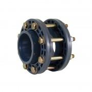 Kit montaje válvula de mariposa PVC con portabridas bridas y tornillos - Ø 125