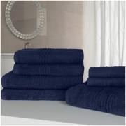 Highams 100% Egyptian Cotton 7 Piece Towel Bale (500gsm) - Blue