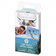 HP Zink Papel Fotográfico Adesivo 20 Folhas 5x7.6 Cm